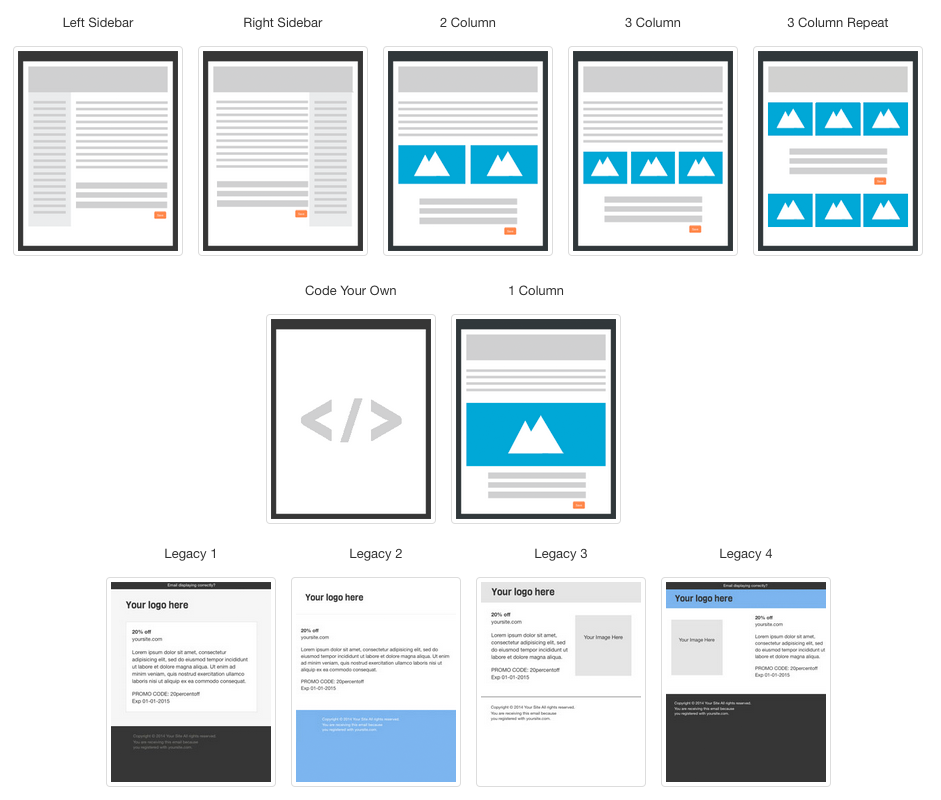 Encouragement Email Marketing Landing Page - Email grid template